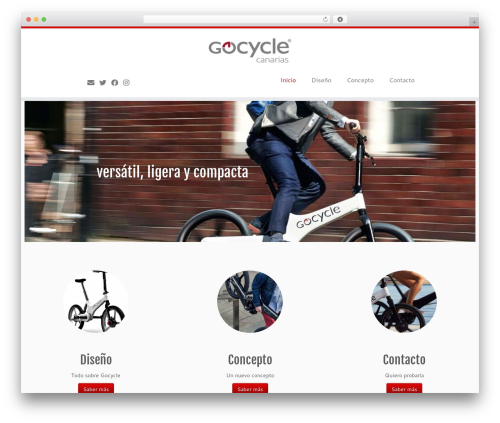 Customizr free WP theme - gocyclecanarias.com