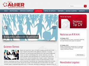 Grupo Alher WordPress theme