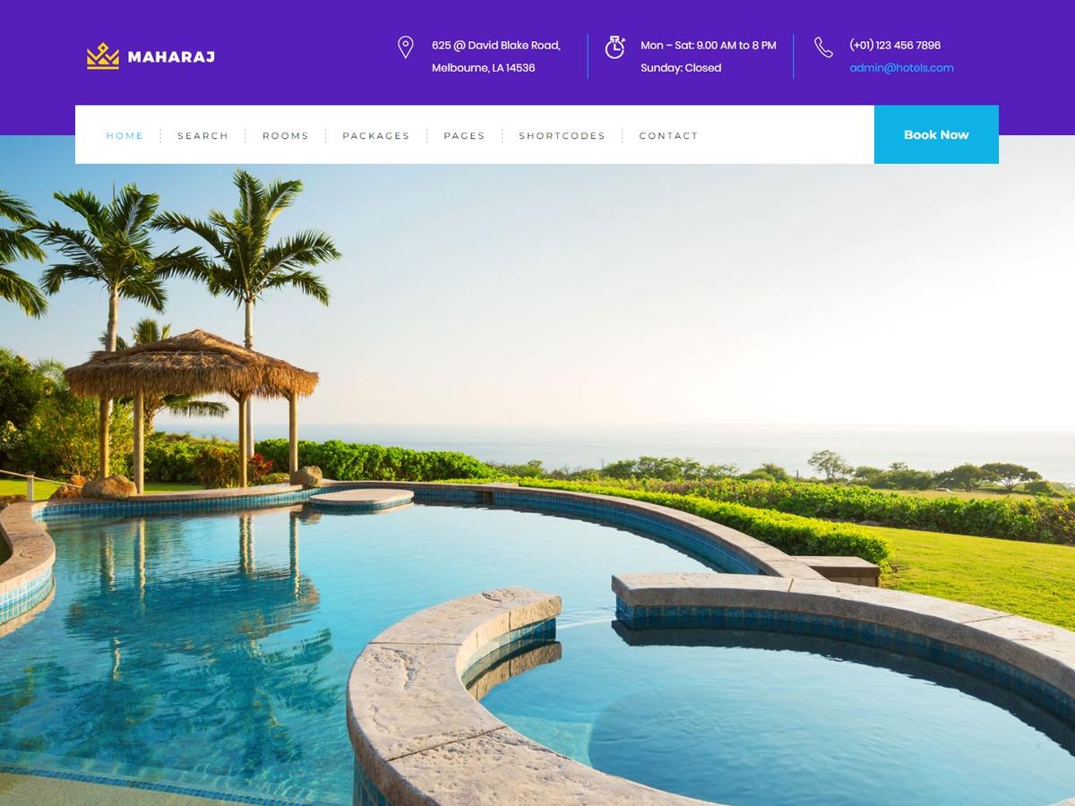 Maharaj best restaurant WordPress theme