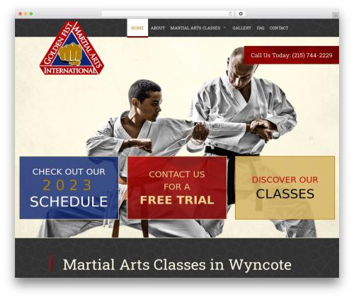 Martial Arts V8 WordPress theme - goldenfistmartialarts.net/home