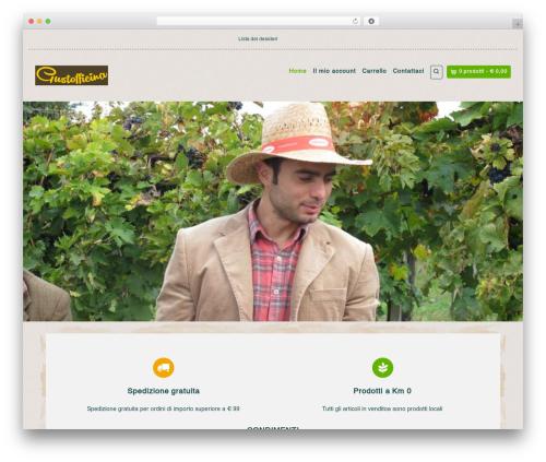 Organic Web Shop WordPress store theme - gustofficina.com
