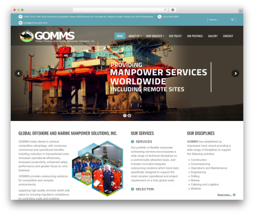 PressCore WordPress theme - gomms-phil.com