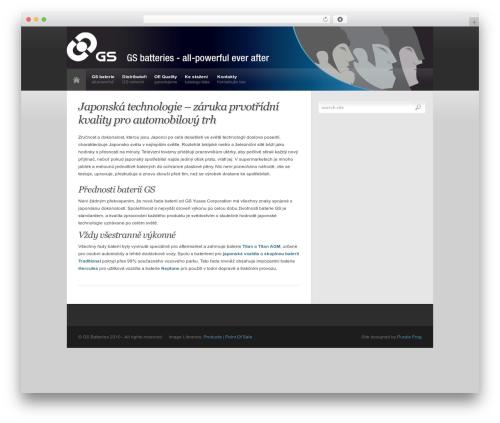 Revolution WordPress theme design - gs-baterie.cz