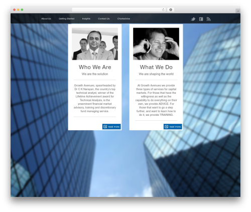 The Firm business WordPress theme - growthavenues.com