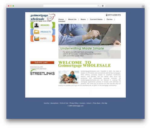 Theme WordPress GotMortgage - gotmortgagewholesale.com