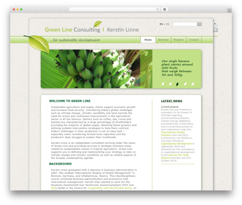 Theme WordPress GreenLine - greenlinne.com