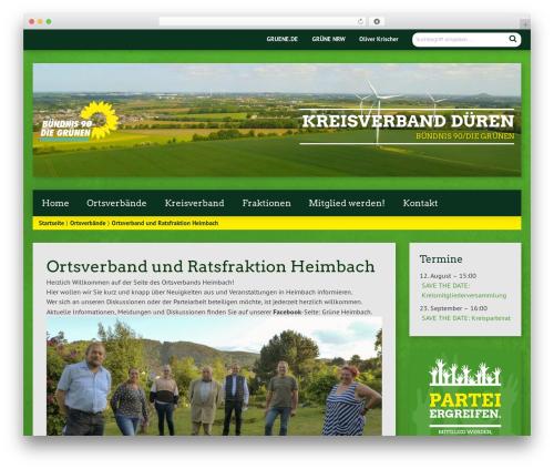 Urwahl3000 WordPress theme design - gruene-dueren.de/category/ortsverbande/heimbach