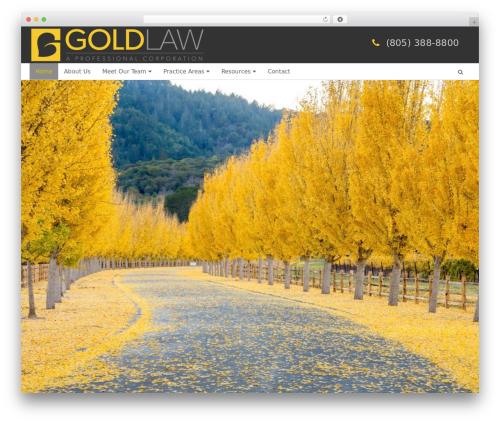WordPress template Altra Blueprint - goldlawcorp.com