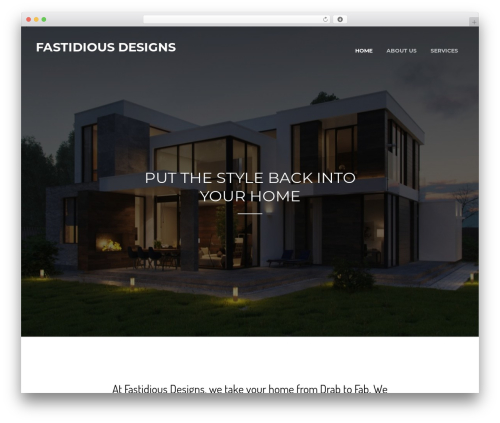 WordPress website template Pacific - fastidiousdesigns.com