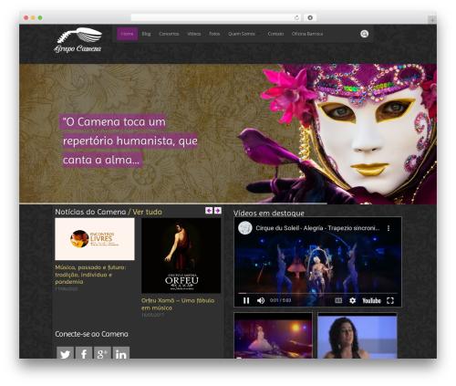 DMS theme WordPress - grupocamena.com