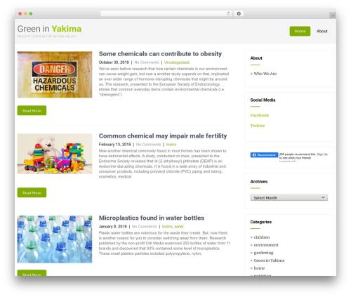 Eco Friendly Lite theme WordPress - greeninyakima.com