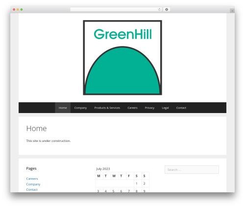 GeneratePress WordPress template free download - greenhill.de