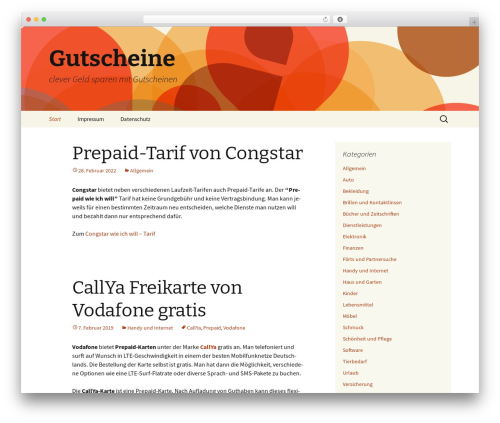 Twenty Thirteen theme WordPress - gutschein-live.de