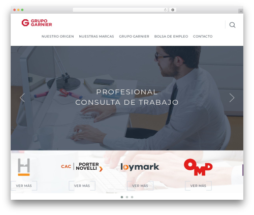 WordPress template Cherry Framework - grupogarnier.com