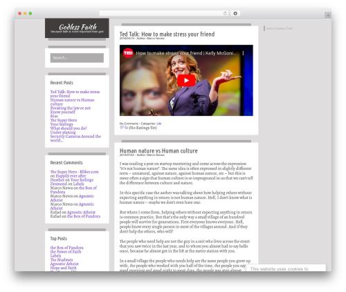 WordPress theme Firstyme - godless-faith.com