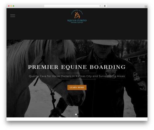WordPress website template Equus Theme - echorse.com