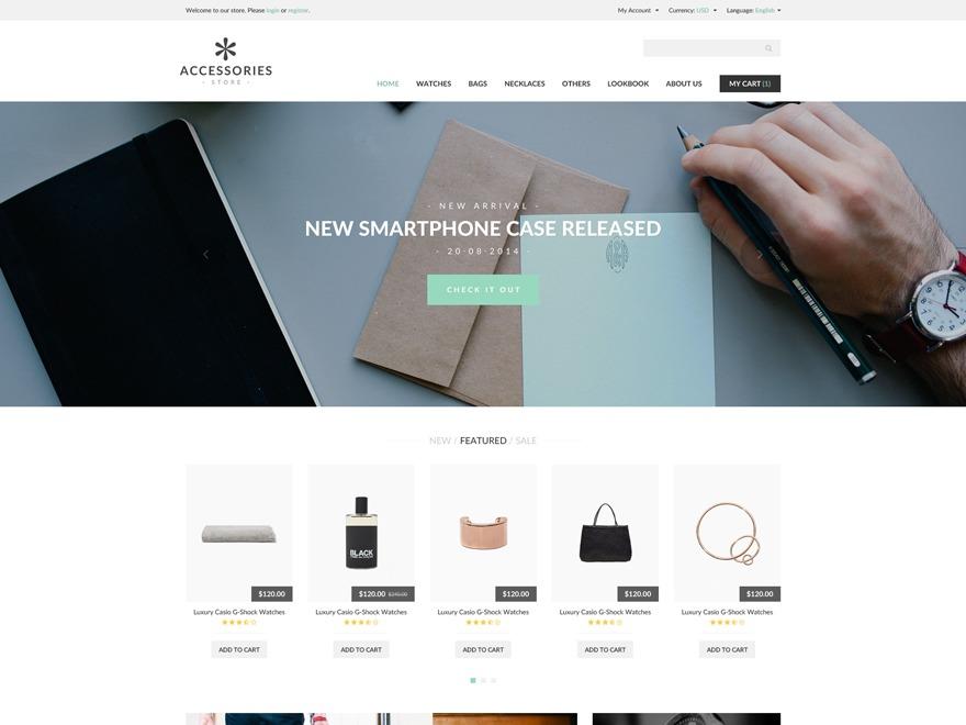 Accessories Woocommerce Theme WordPress ecommerce theme