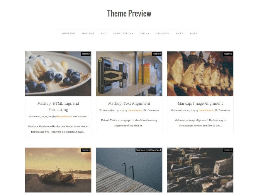 Actuate theme WordPress free