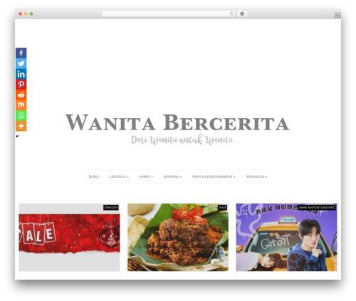 Actuate WordPress theme - wanitabercerita.com
