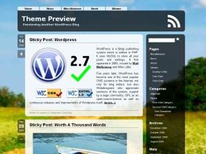 Aeros wallpapers WordPress theme