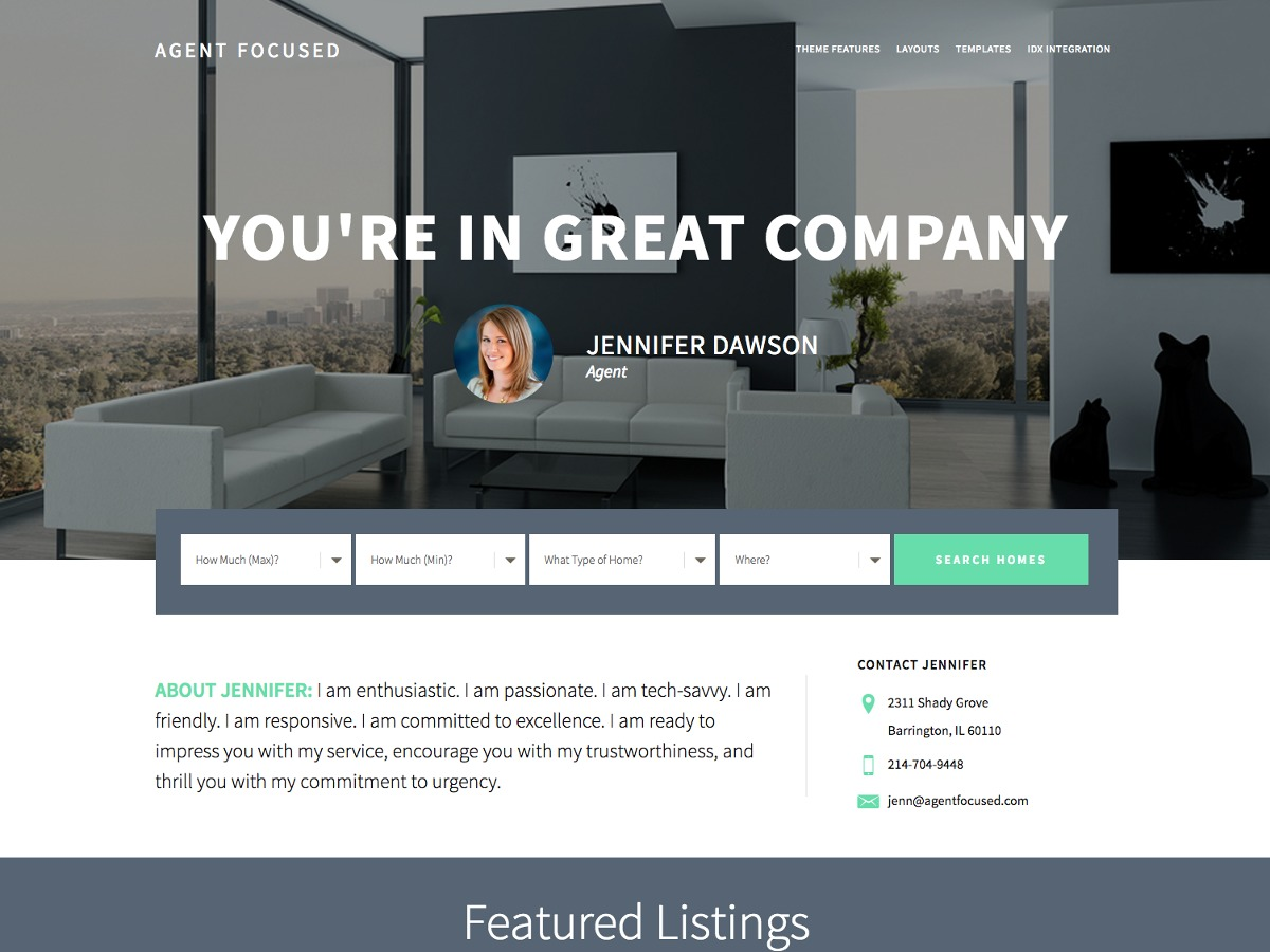 Agent Focused Pro WordPress template