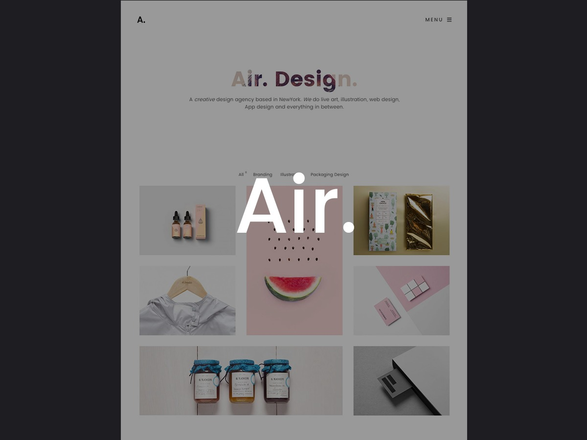 Air Theme WordPress photo theme