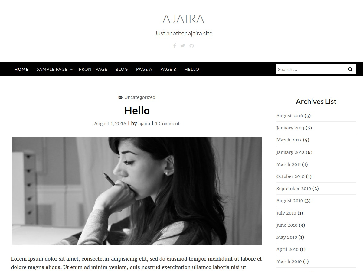 ajaira WordPress template free download