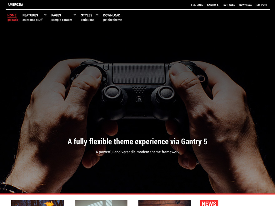 Ambrosia top WordPress theme