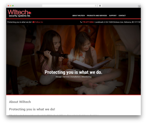 Ambrosia WordPress page template - wiltechsecuritysystems.ca