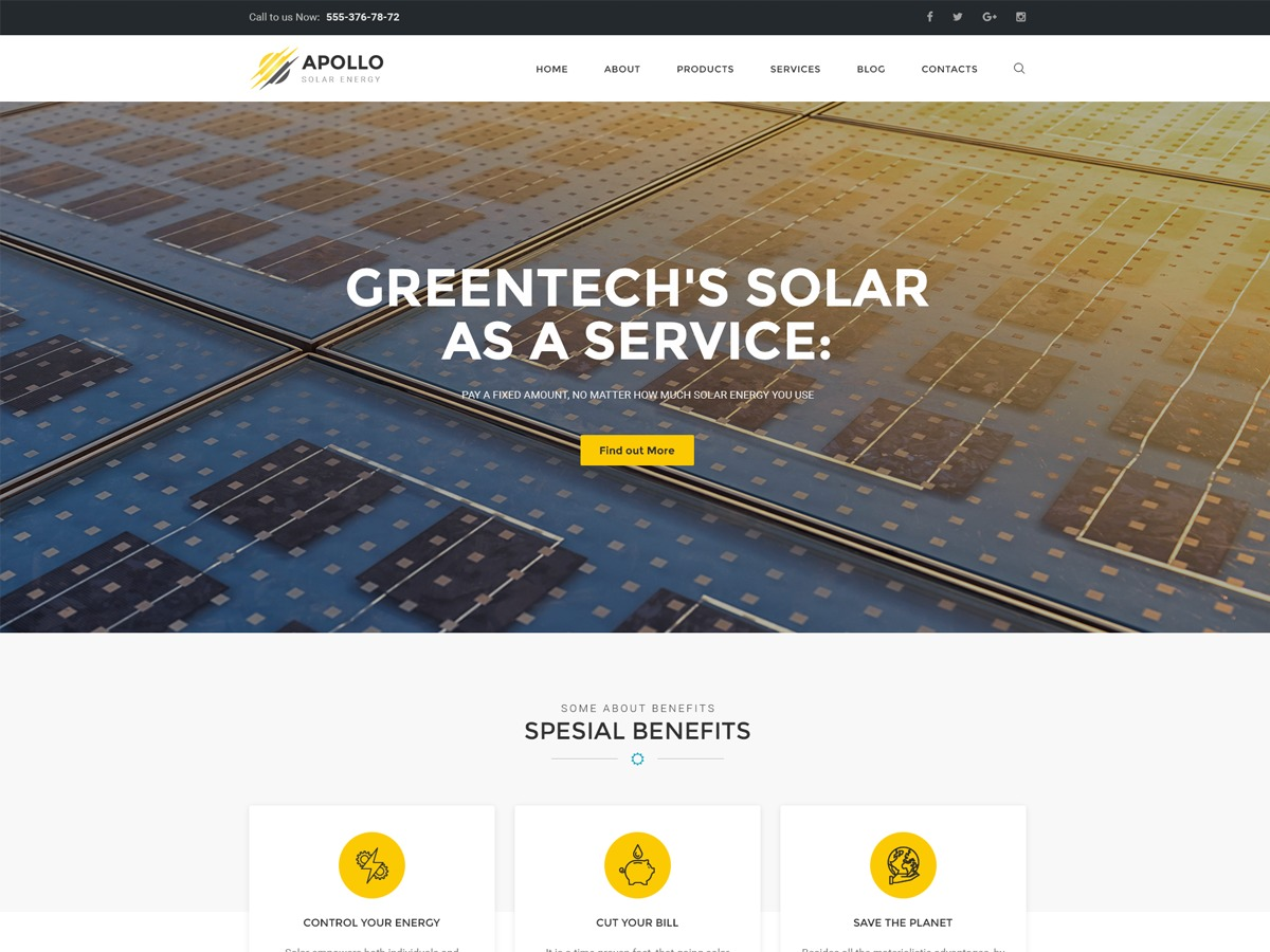 Apollo WordPress template for business