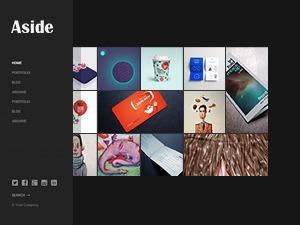 Aside Responsive & Retina Theme WordPress portfolio theme