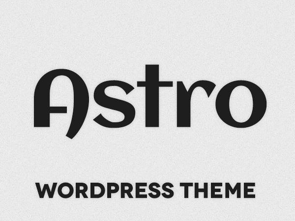 Astro WordPress gallery theme