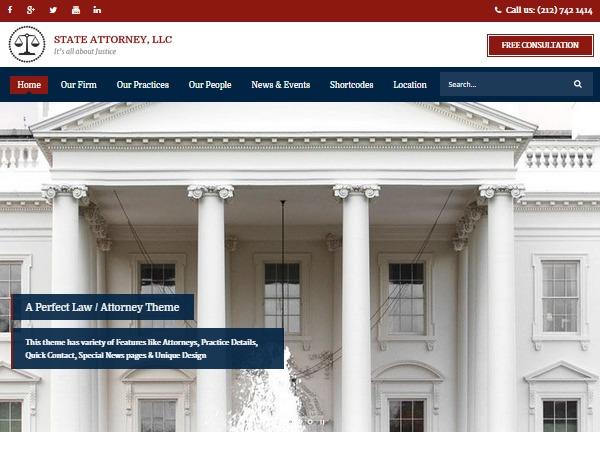 Attorney photography WordPress theme