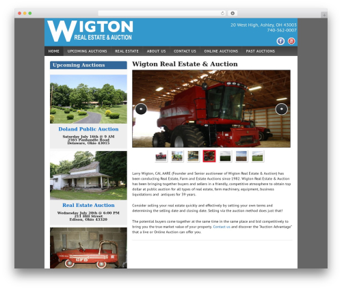 Auction Company Template WP template - wigtonauctions.com