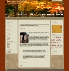 Autumn Almanac theme WordPress