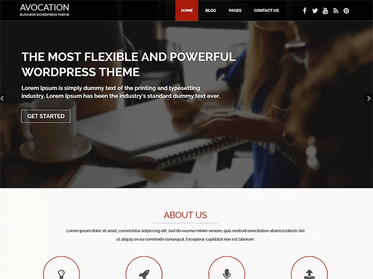 Avocation free WordPress theme