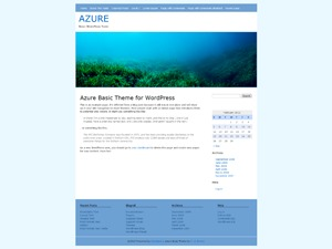 Azure Basic WordPress blog theme