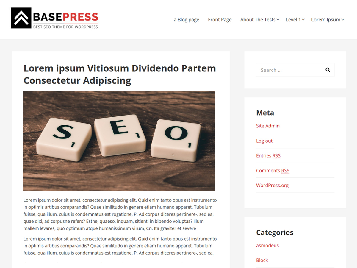 BasePress theme WordPress free