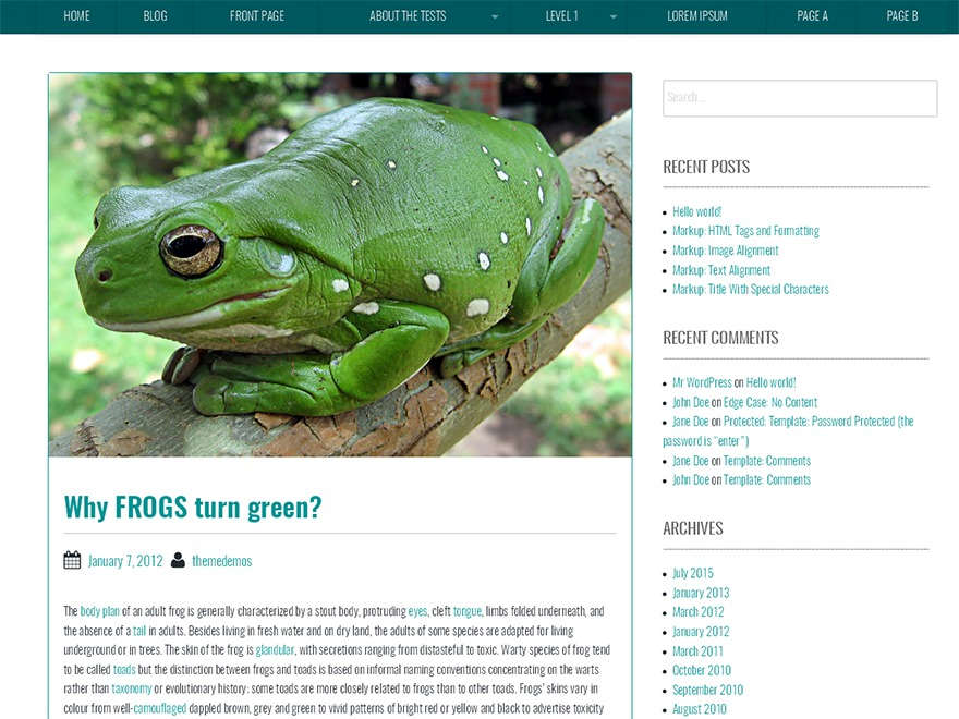 BBird Under WordPress blog theme