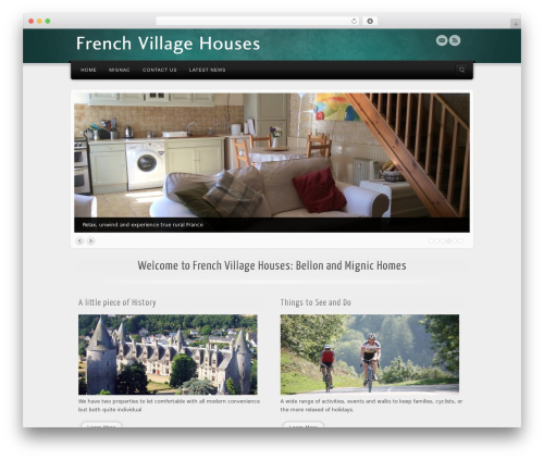 Best WordPress template Alyeska - frenchvillagehouses.co.uk