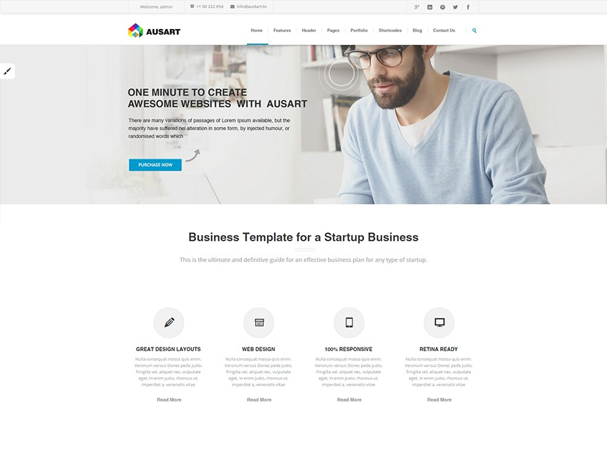 Best WordPress template Ausart