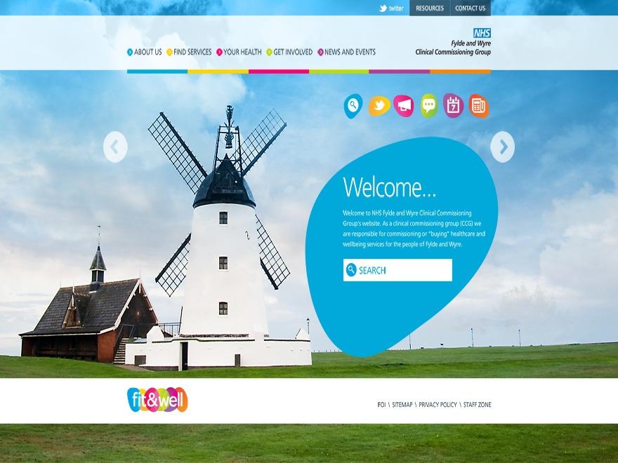 Best WordPress template CCG - Fylde & Wyre