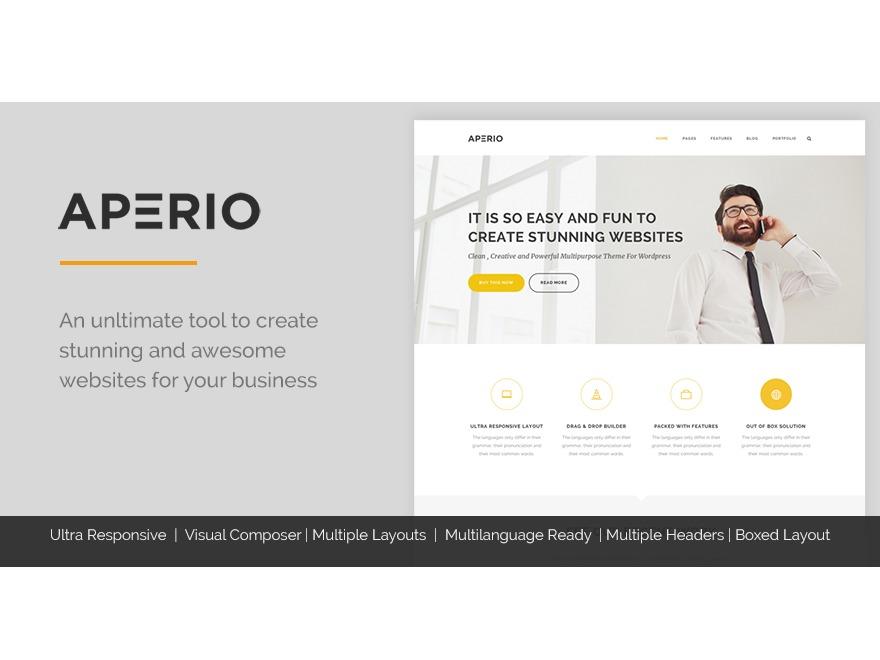 Best WordPress theme Aperio