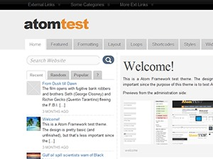 Best WordPress theme ATOM