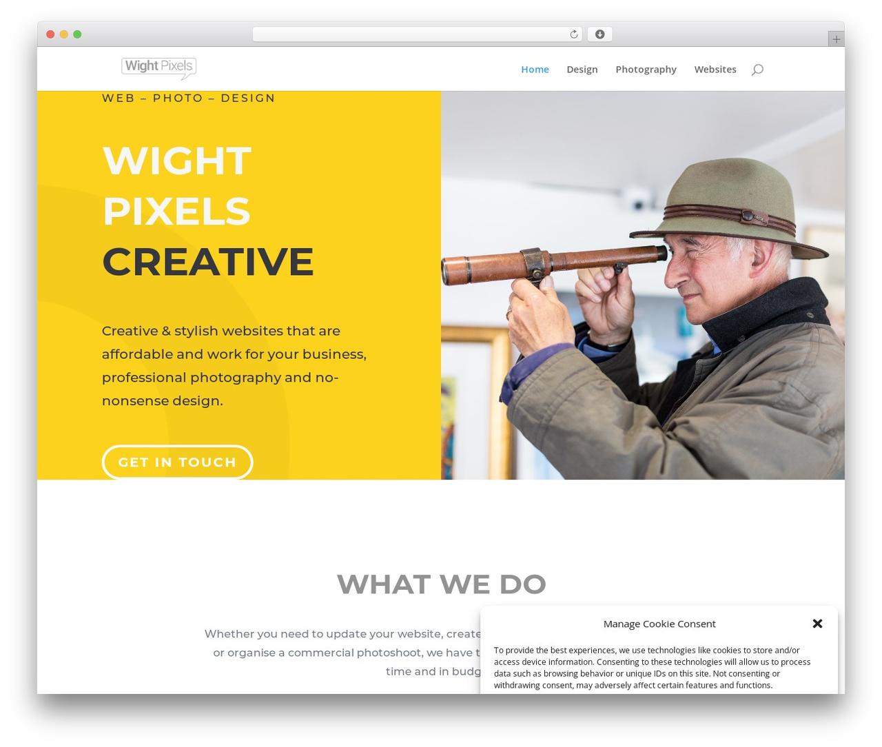 Best WordPress theme Divi - wightpixels.co.uk