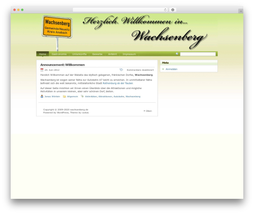 Best WordPress theme Poetry - wachsenberg.de