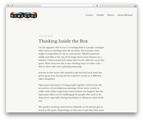 Best WordPress theme Readly - wimagguc.com