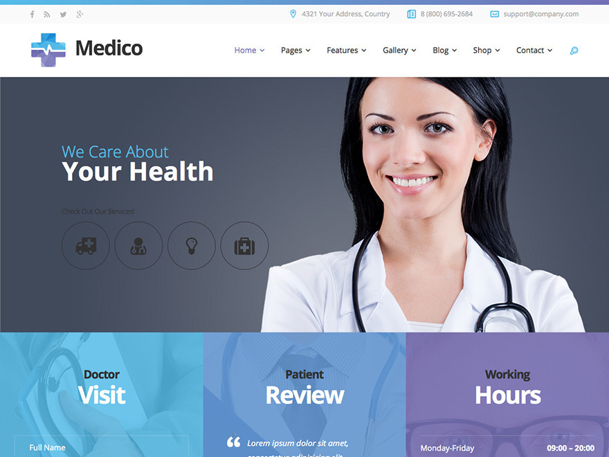 Best WordPress theme WP_Medico