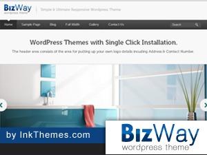 BizWay Pro Responsive Theme WordPress photo theme