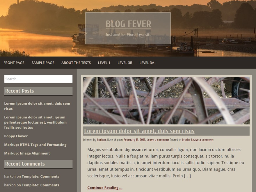 Blog Fever theme WordPress free